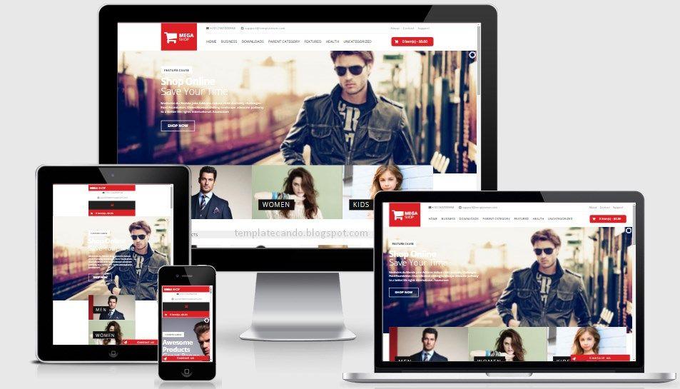 Mega Shop eCommerce Responsive Blogger Template | Responsive Blogger