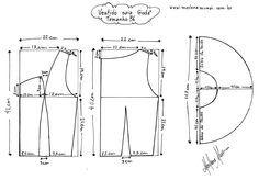 Molde de Vestido Godê tamanho 36.