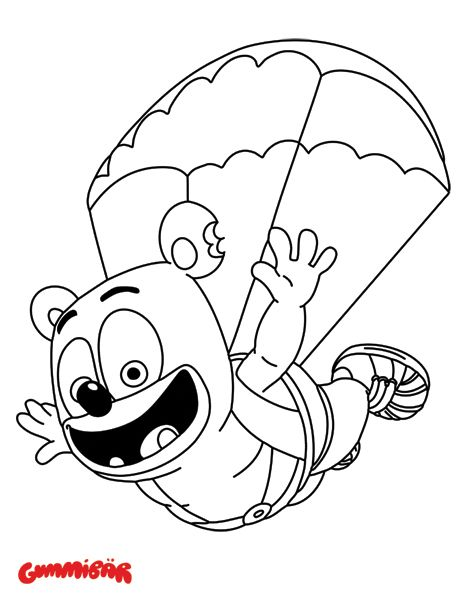 Download A Free Printable Gummibar January Coloring Page Bear