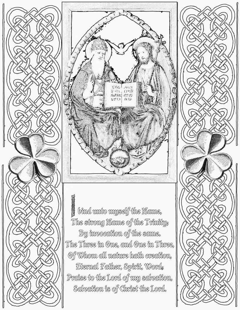 Happy St Patrick S Day And Free Trinity Coloring Page With