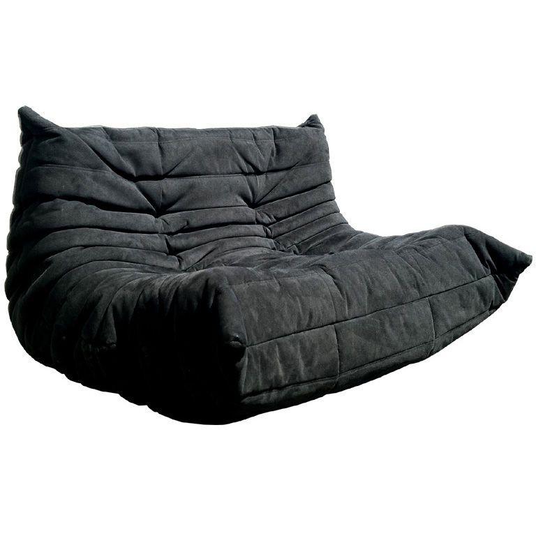 Ligne Roset Togo Sofa In Black Fabric 1stdibs Com Togo Sofa Ligne Roset Couch Upholstery