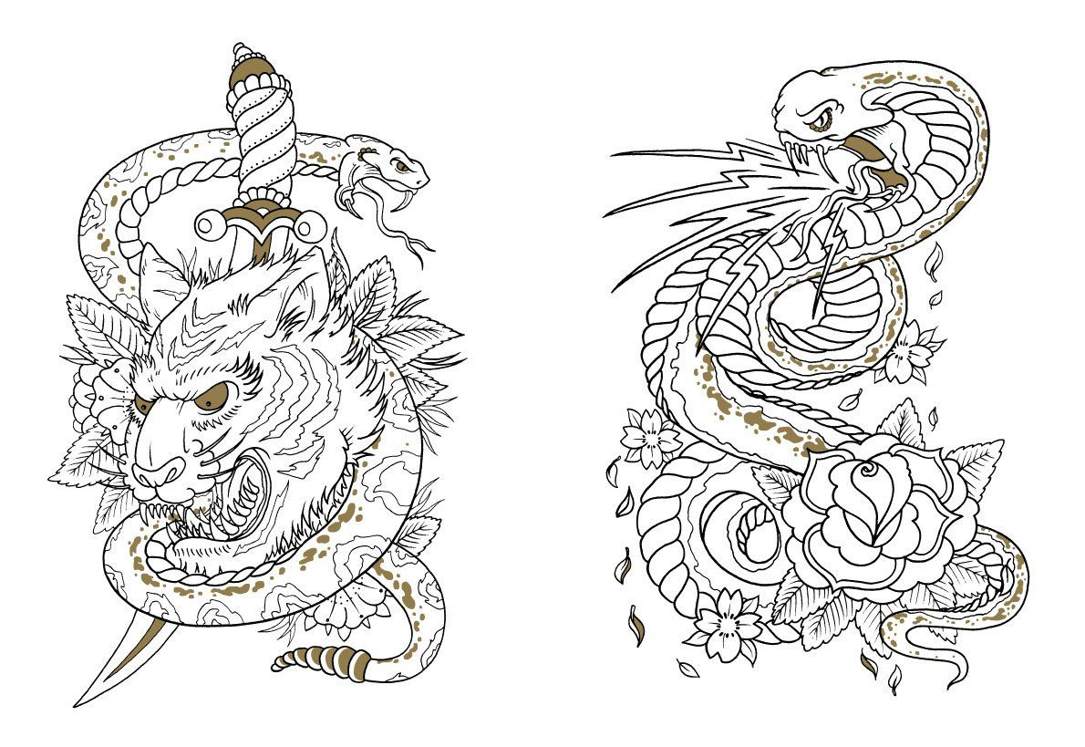 The Tattoo Colouring Book By Megamunden Coloring Book Art Tattoo Coloring Book Designs Coloring Books