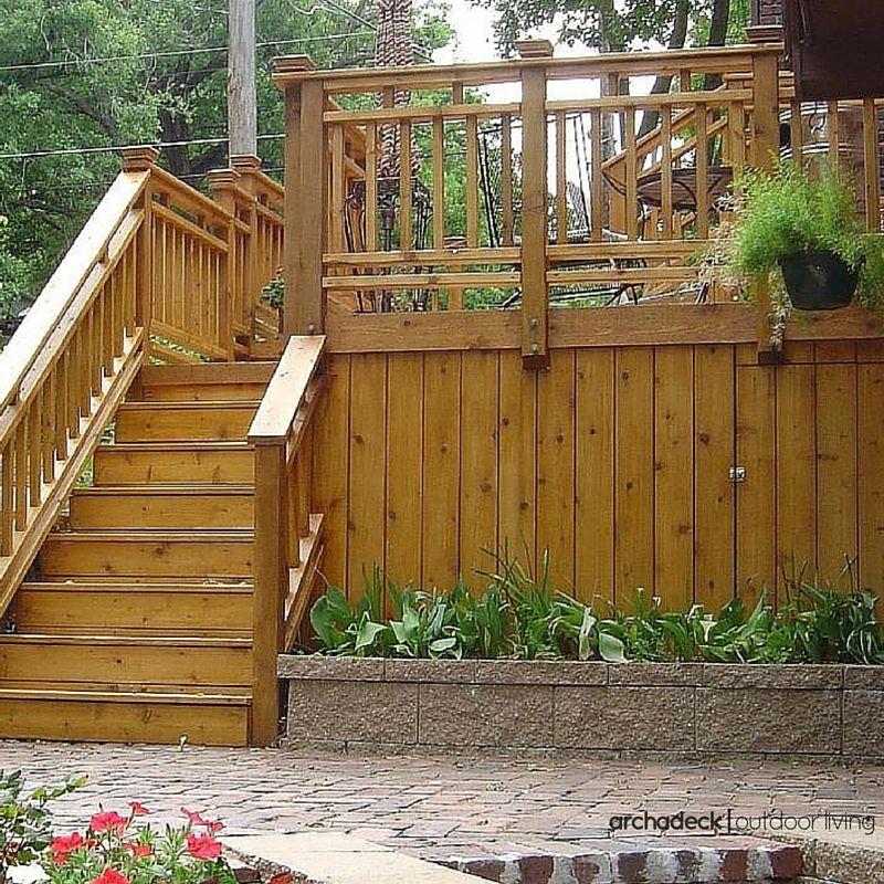 Natural Cedar Wood Deck With Cedar Underdeck Skirting