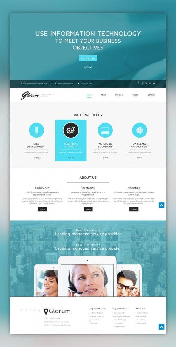 Web Development Responsive WordPress Theme | Pinterest