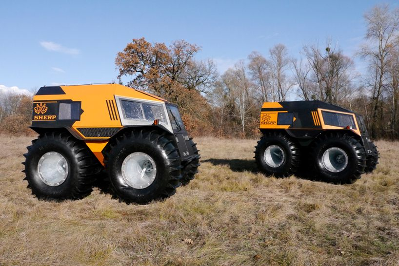 The Sherp Atv Is An Amphibious Vehicle For Plowing Through Any Terrain Amphibious Vehicle Vehicles Atv
