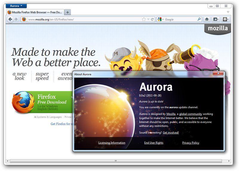Mozilla firefox 9 0 a2 aurora | ecgrafap | Windows xp