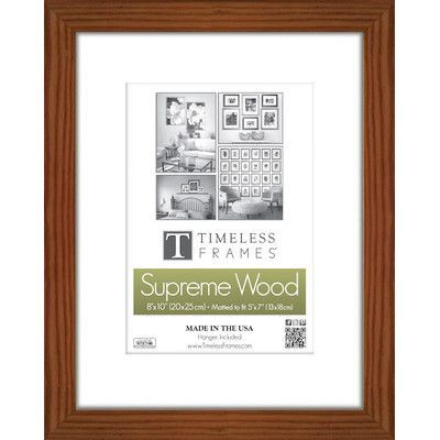Charlton Home Barile Wall Picture Frame Size 11 X 17 Color Walnut Picture Wall Picture Frames Picture Frame Sizes