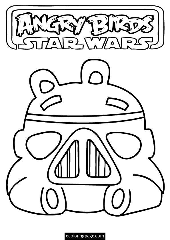Star Wars Angry Birds Coloring Pages | 842x595