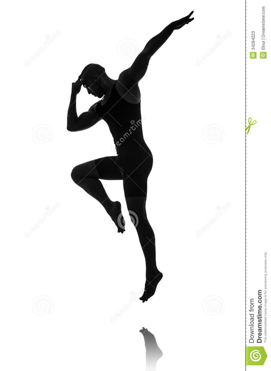 Ballet leap silhouette