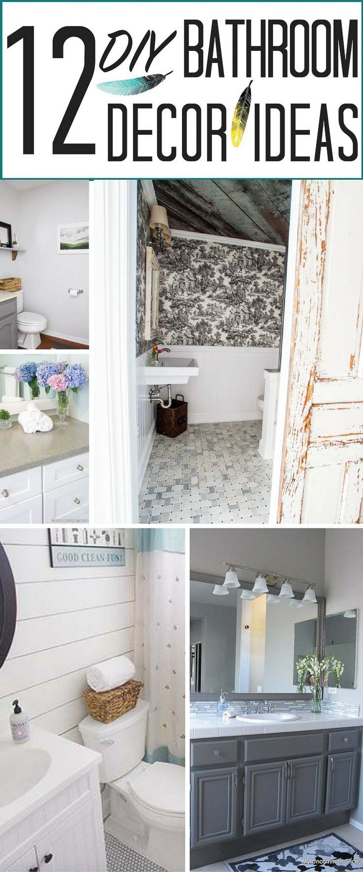 12 DIY Bathroom Decor Ideas (& a crapload of nasty toilet and barf ...
