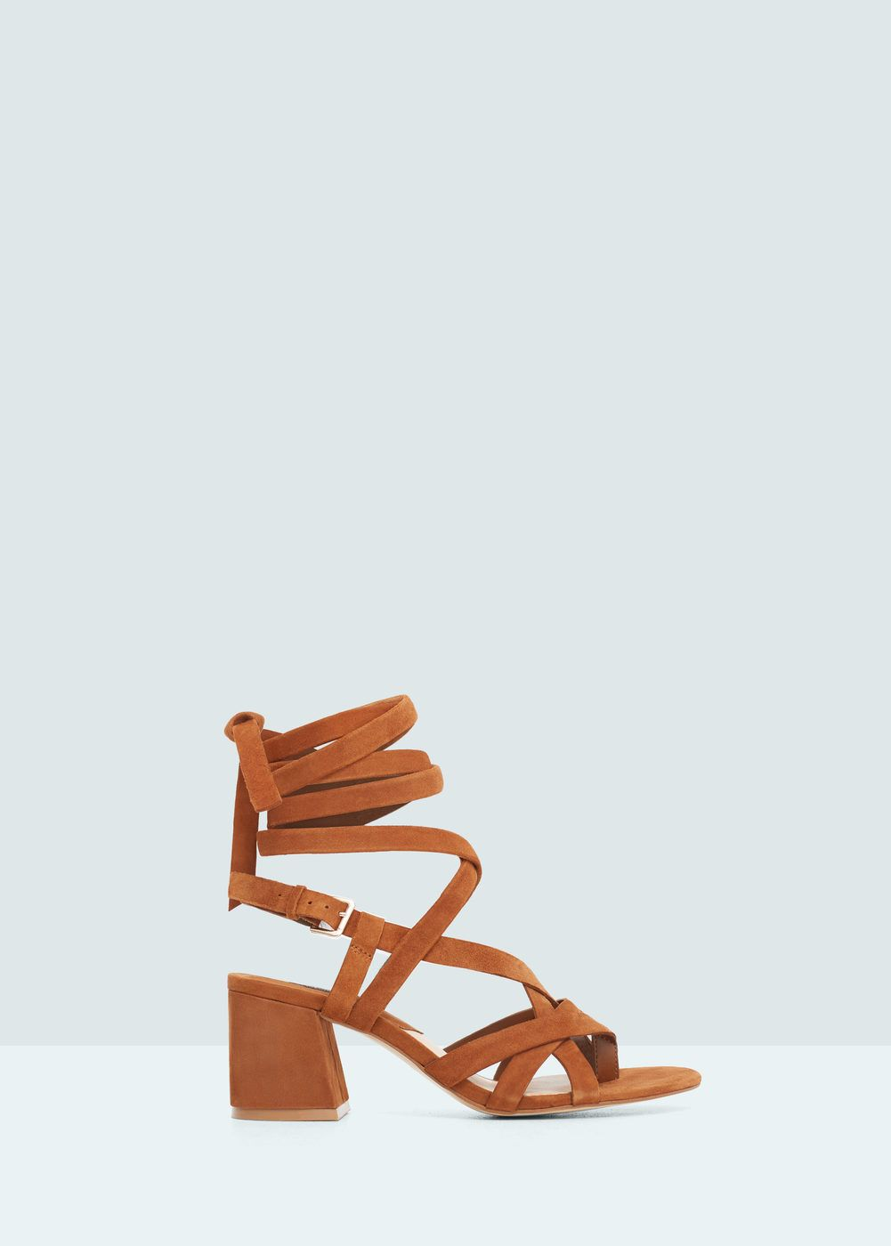 Sandals shoes usa - Leather Straps Sandal Shoes For Women Mango Usa