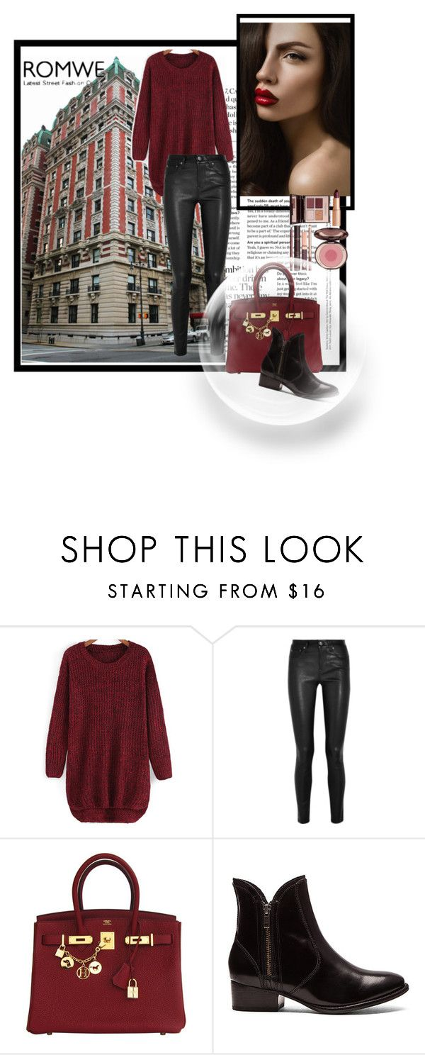 """""""sweater"""" by anadela-galamic ❤ liked on Polyvore featuring Helmut Lang, Hermès, Seychelles and Charlotte Tilbury"""