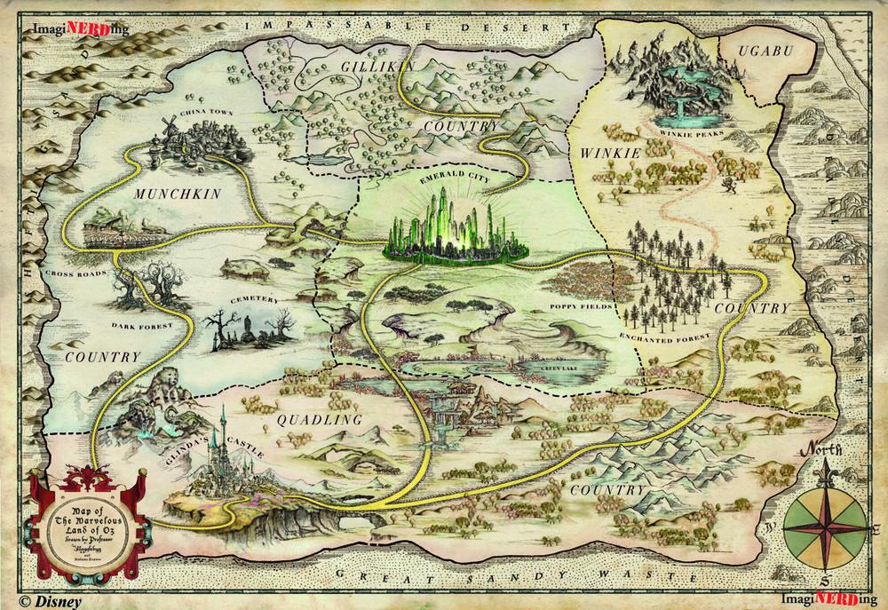Maps Of Oz Fantasy Map Fantasy World Map Storybook Art