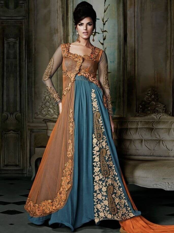 Latest Pakistani Gown Style Dresses For Ladies | EStyleOut ...