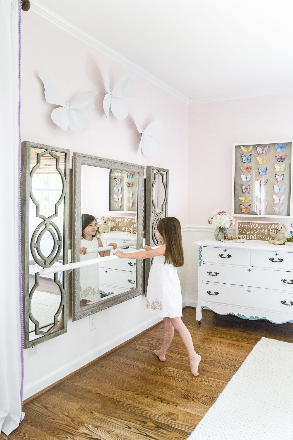 Little Girl Butterfly Bedroom Makeover Reveal Girls Bedroom