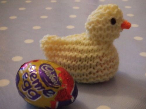 Easter cutie pop your creme eggs in this the first task i am knitted easter chick egg cover sooooooo cute would love this knitting pattern negle Gallery