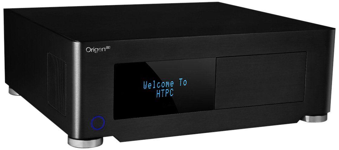 OrigenAE S14V Micro ATX HTPC PC Gehäuse VF Display Schwarz