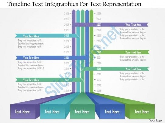 Ap Timeline Text Infographics For Text Representation Powerpoint - Powerpoint templates timeline