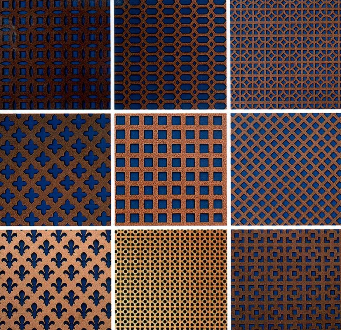 decorative metal screen sheet material screening panels come in 13 different patterns - Decorative Metal Screen