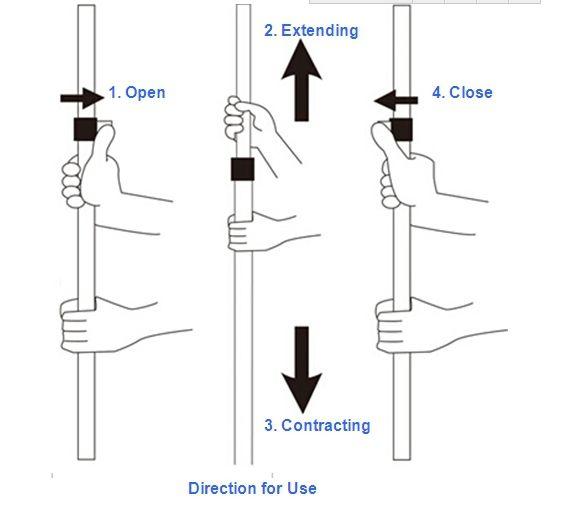 3 sections flip telescopic pole locking mechanisms aluminum telescopic pole  sc 1 st  Pinterest & 3 Sections Flip Telescopic Pole Locking Mechanisms Aluminum ...