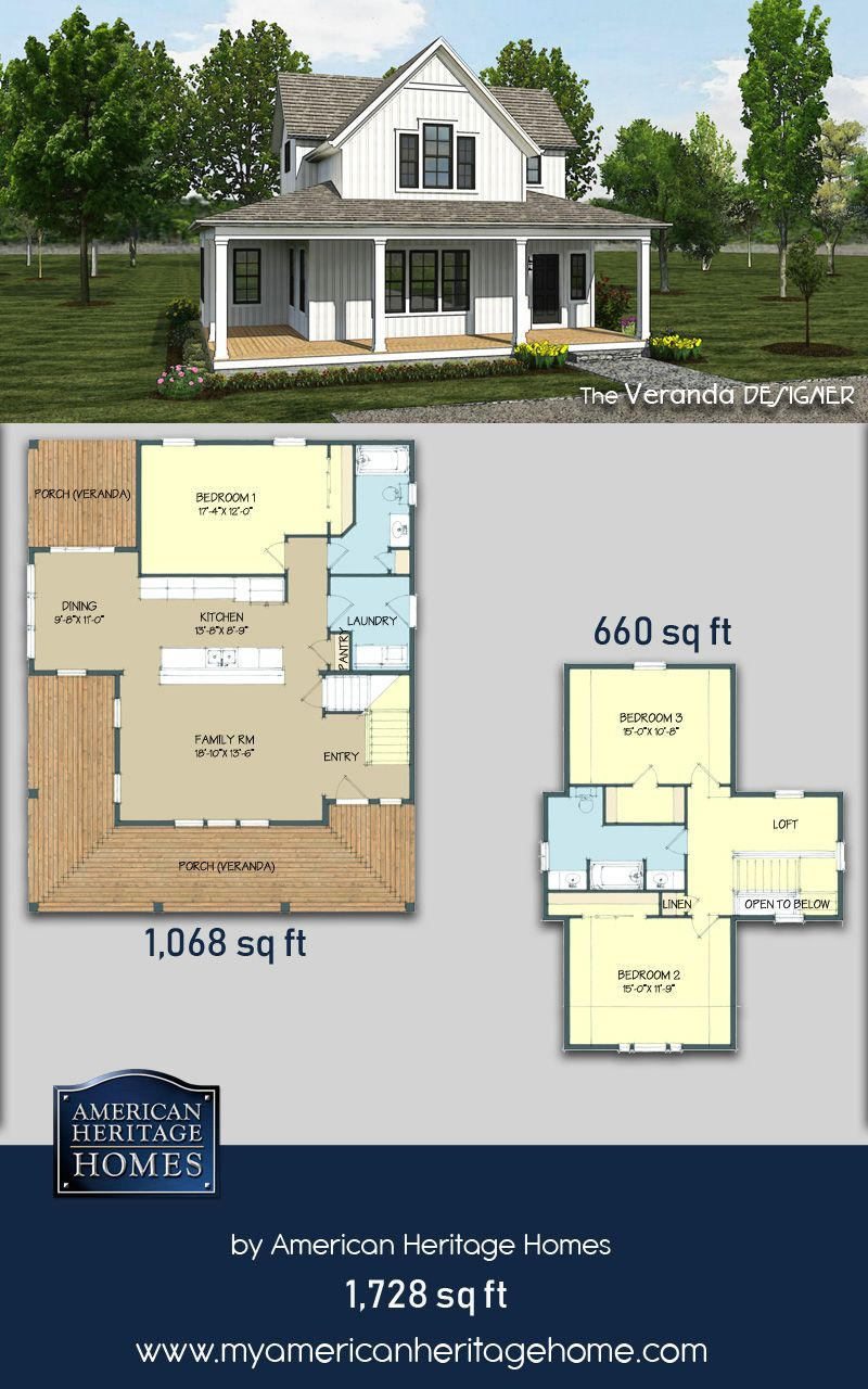 Pin by american heritage homes on our floorplans pinterest floor plans design and verandas