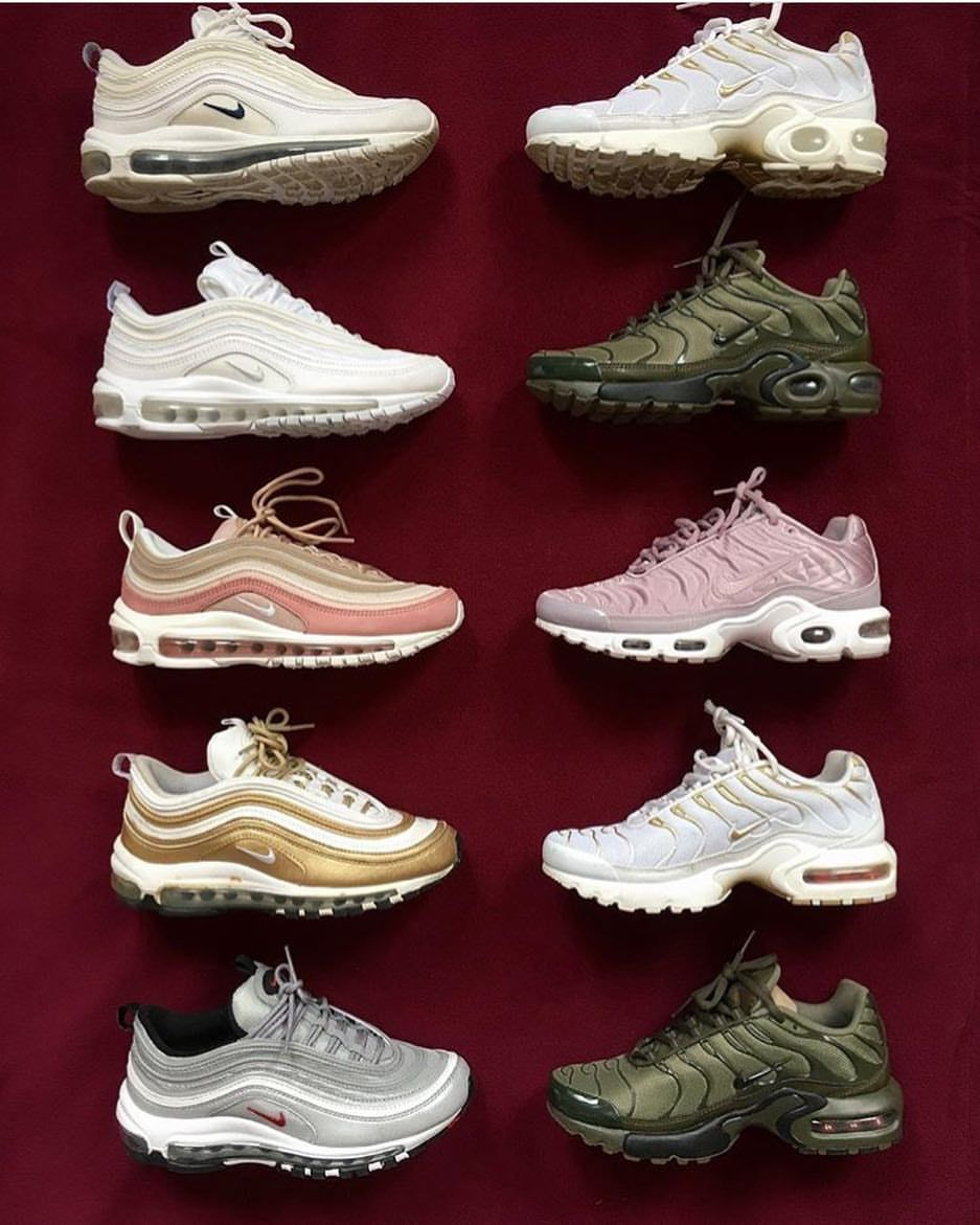 "KICKHEADNEWS STORE on Instagram ""Could you choose just one pair from @nawellleee collection  Nike Airmax TN & Nike Airmax 97 FOR ALL PERSONAL SHOPPING ENQUIRES CONTACT US…"" is part of Shoes - 1,771 Likes, 20 Comments  KICKHEADNEWS STORE (@kickheadnews) on Instagram ""Could you choose just one pair from @nawellleee collection  Nike Airmax TN & Nike Airmax 97 FOR ALL…"""