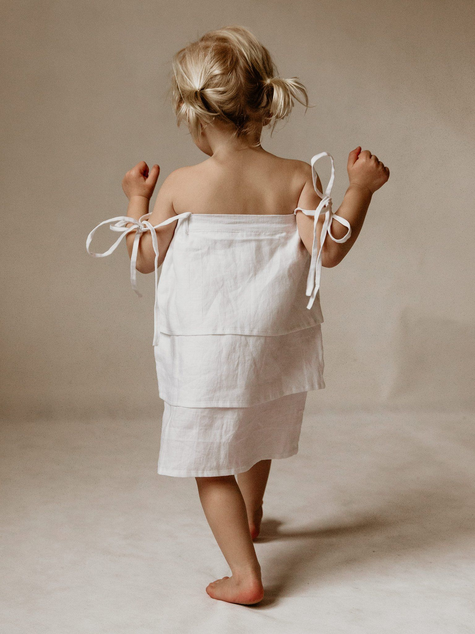little girl undone Mini Marley | Sofie Dress in White | The UNDONE by Mini ...