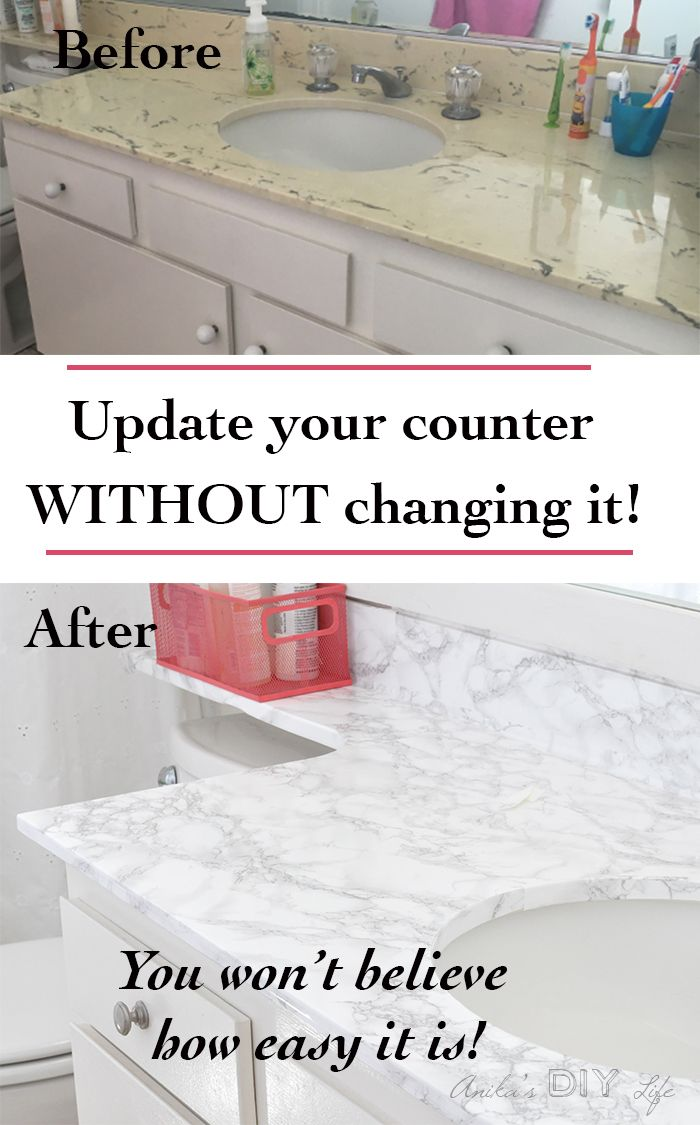 How To Update A Countertop With Contact Paper Diy Marble Contact Paper Contact Paper Countertop Contact Paper