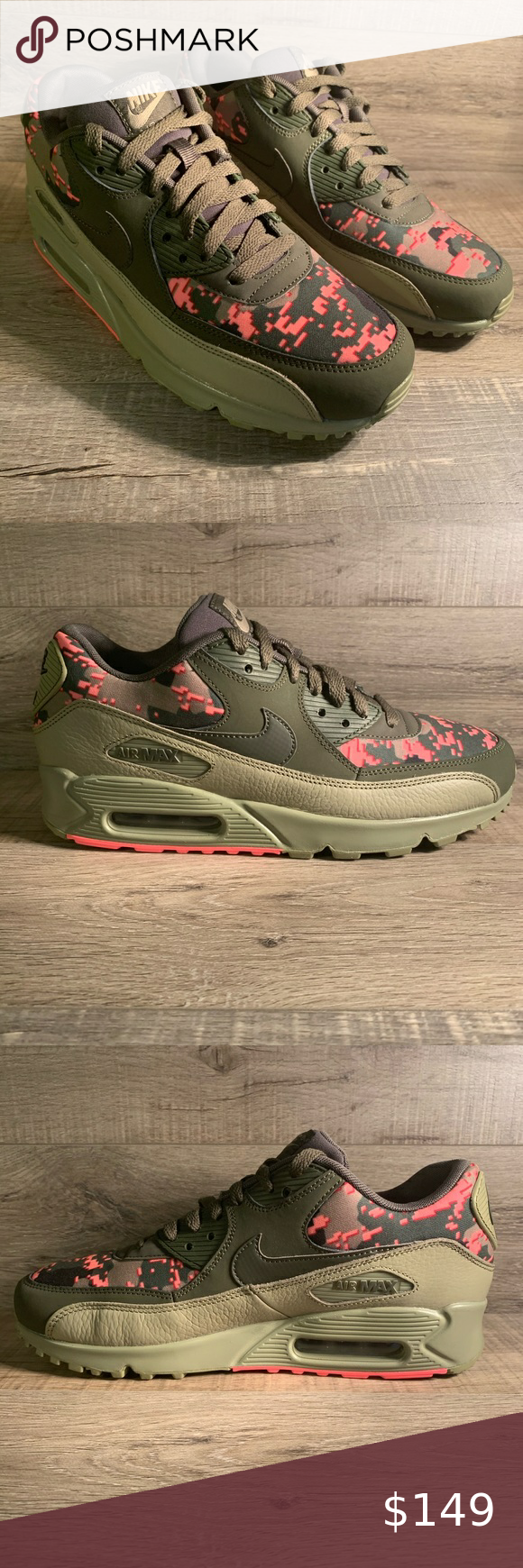 Nike Air Max 90 C Digi Camo Olive in
