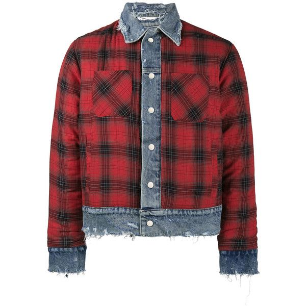 a6cc2d1f229 Amiri reversible flannel and denim trucker jacket ( 3