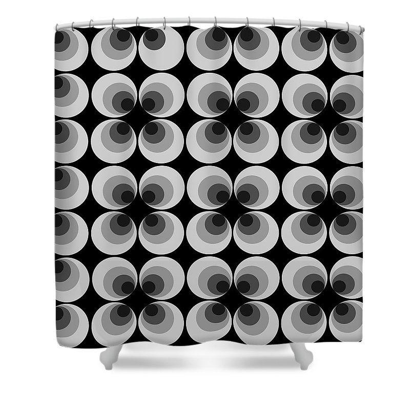 Retro Shower Curtain 70s Duschvorhang Dusche Bad