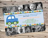 Transportation Cars Trucks Planes Birthday DIGITAL Photo Invitation. $12.00, via Etsy.