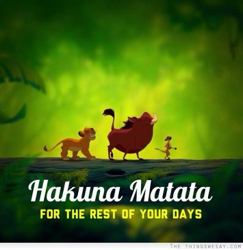 Hakuna Matata For The Rest Of Your Days