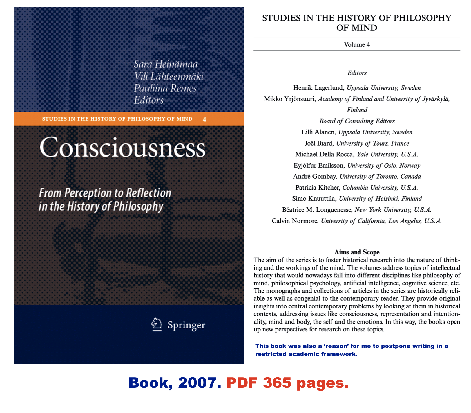 Book Consciousness From Perception To Reflection In The History Of Philosophy Pdf 365 Pages Philosophy Of Mind History Of Philosophy Philosophy