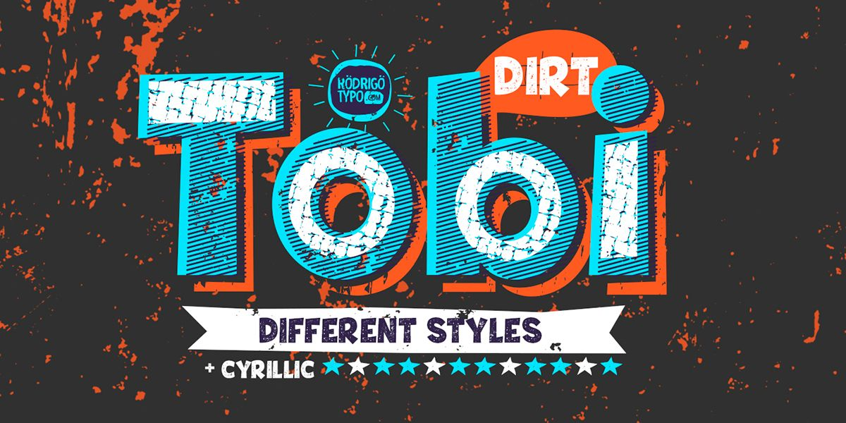 "Name: Tobi Dirt Year: 2015 Author: Rodrigo Araya Salas Concept: Tobi dirt, is a variant of ""Tobi"" this time it is presented in a dirty, rough with different styles and forms, the idea is to combine everything, and containing ornaments set with Cyrillic al…"