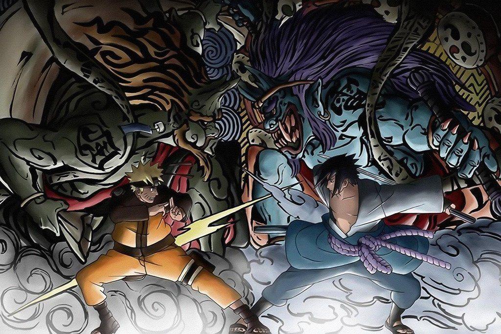 Naruto Shippuuden Anime Poster Animasi Naruto And Sasuke Gambar