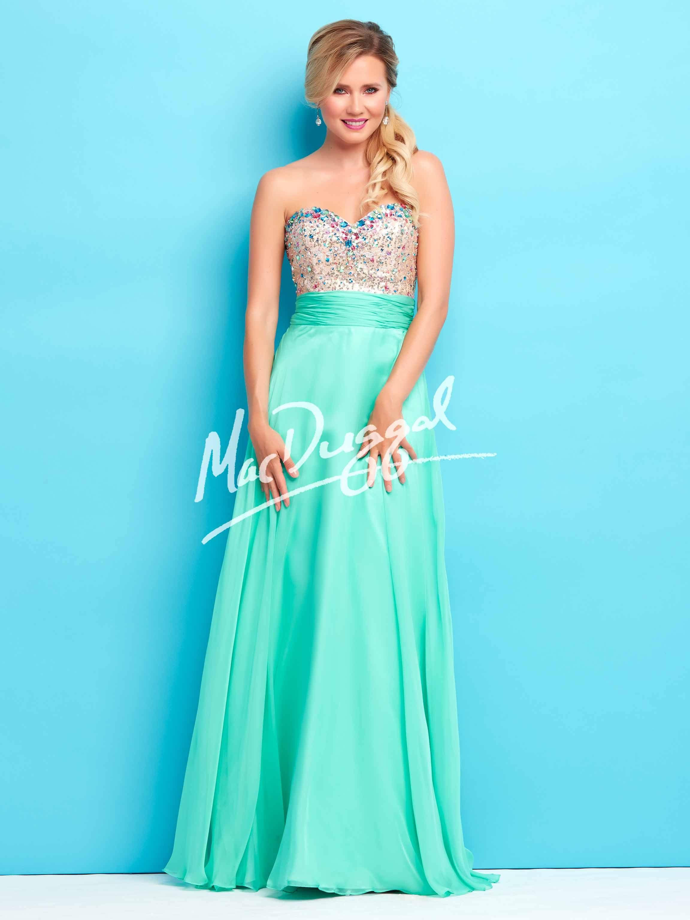 In two adorable colors, this long a-line prom dress is the perfect ...