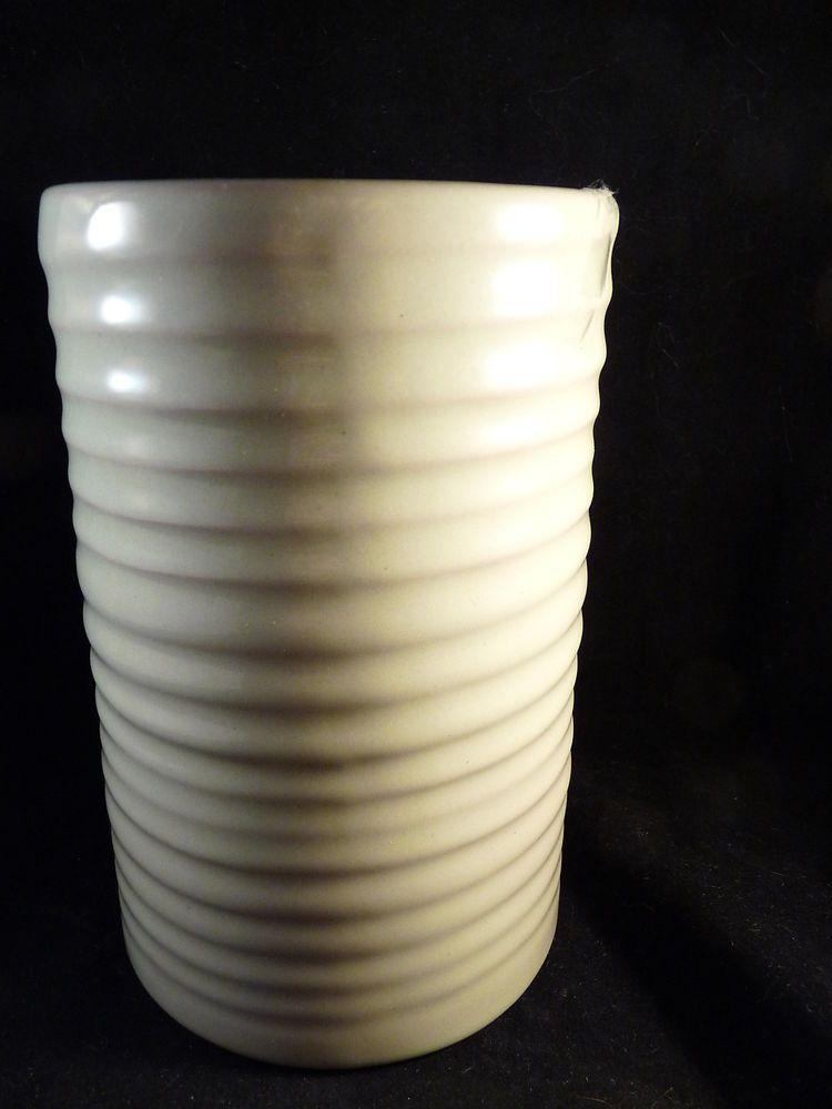Vintage Frankoma Pottery Ringed Vase 172 Light Green Oklahoma