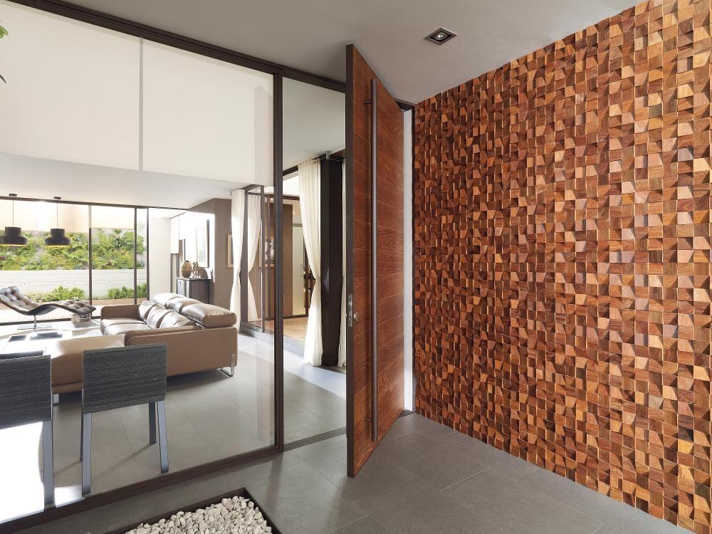 Pin de charly zazueta en lambrin pinterest madera for Piedra para muros interiores