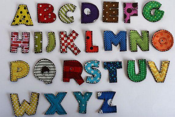 ABC Alphabet letters applique