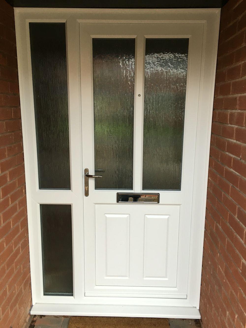 White Upvc Door Side Panel Kidderminster Twswindowsanddoors