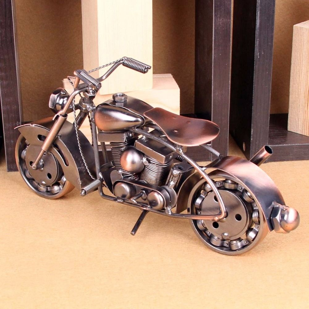 Find More Figurines Miniatures Information About 25cm Length Retro Retro Motorcycle Retro Motorcycle Model