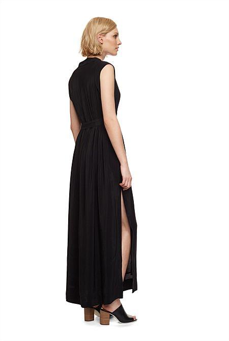 Deep V-Neck Maxi Dress