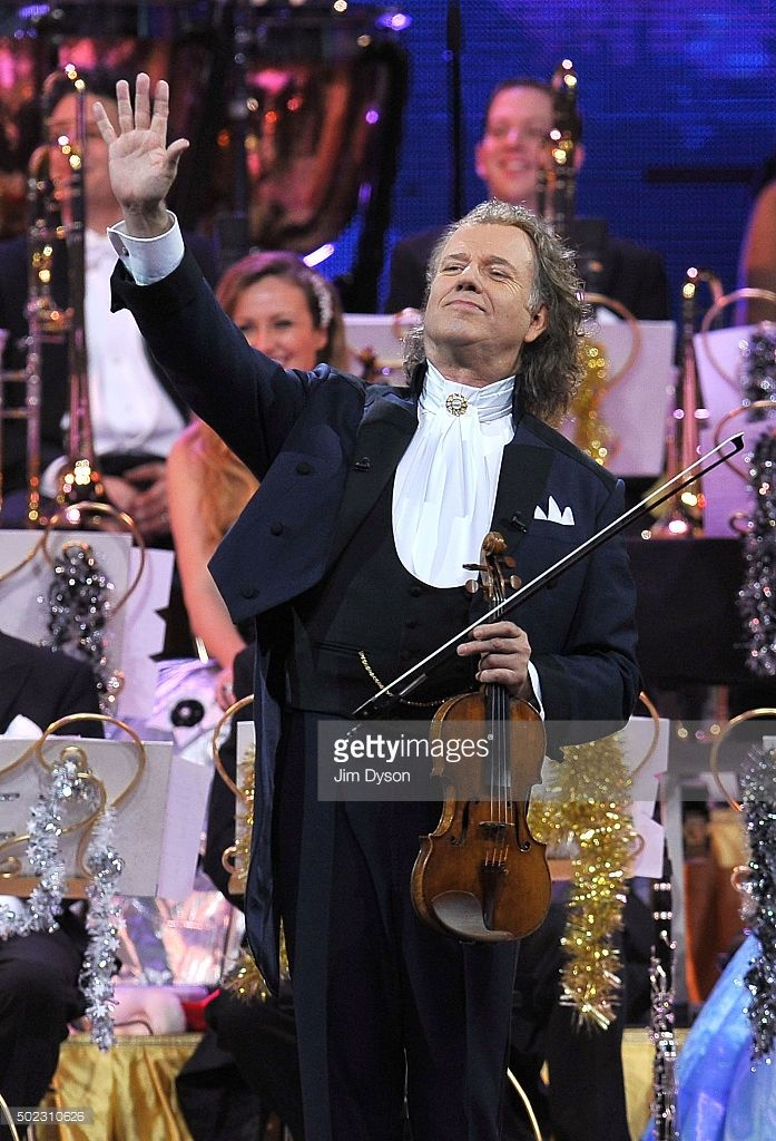 Dutch Violinist And Conductor Andre Rieu Performs With The Johann