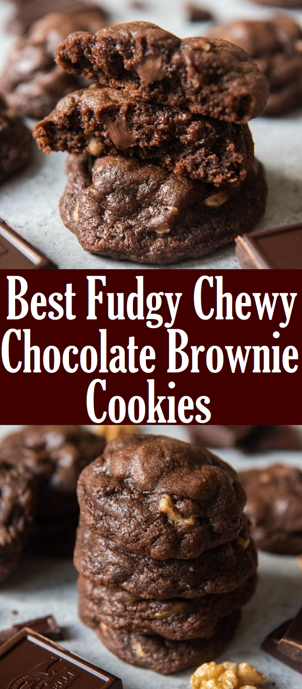 ★★★★★ 399 reviews  #Fudgy #Chewy #Chocolate #Brownie #Cookies #desserts