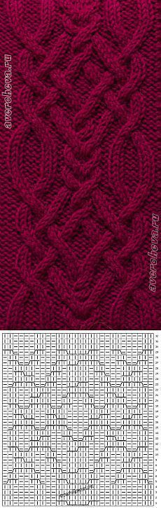 369 braid pattern width 28 loops   catalog knitting patterns: