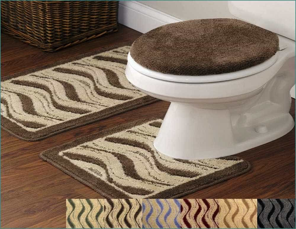 Brown 5 Piece Bathroom Rug Sets For Natural Look Bathroom Rug