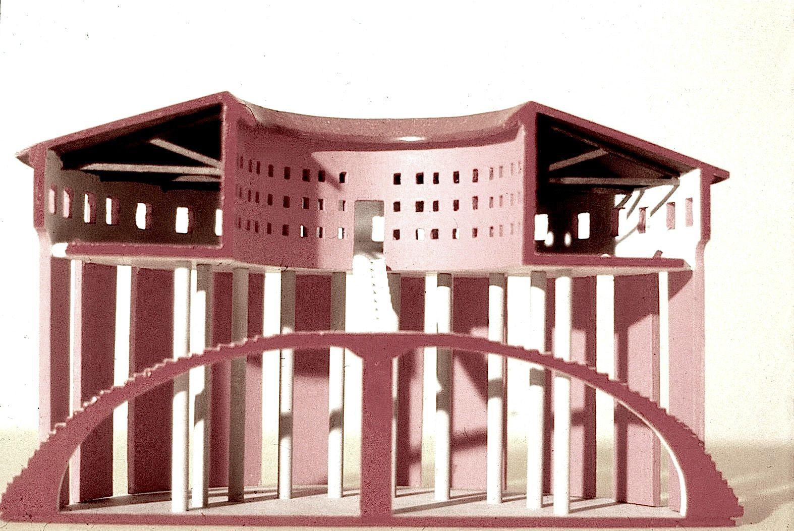 1984  PER LA PIAZZA DI BADOERE modello h. 15 cm.  Biennale di Venezia_by Brunetto De Batté & Giovanna Santinolli con Mario Panizza