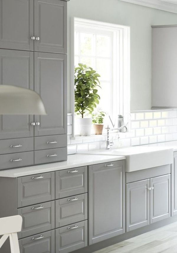 Bodbyn Ikea Kuche Grau 01 Grey Kitchen Grey Kitchen Cabinets