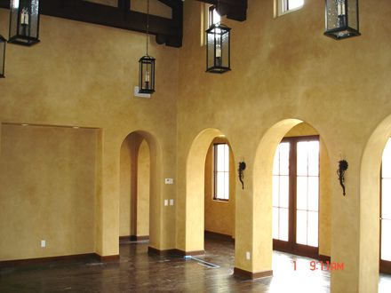 How to create tuscan walls use venetian plaster in your - Interior stucco wall designs ...
